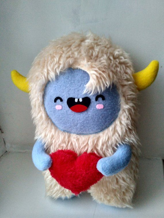 Yeti Plush Toy Kawaii Monster Stuffed Animal Valentine S Day