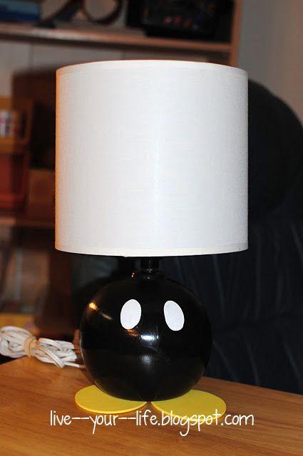 DIY Super Mario Bob-Omb Lamp #DIY