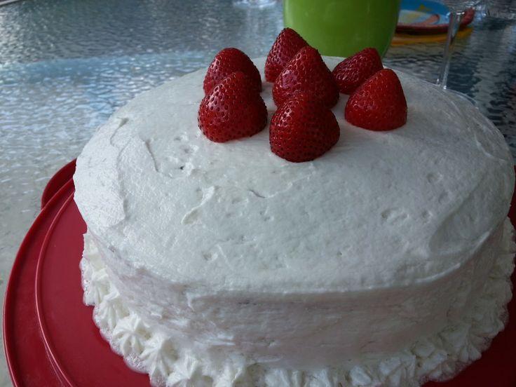 Gluten free, dairy free, egg free and nut free cake.