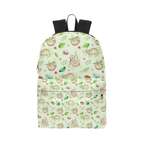 Funny Sloth Mother with Coconut Unisex Classic Backpack, School Backpack, Kids Backpack, Festival Backpack, Boys Girls Bag