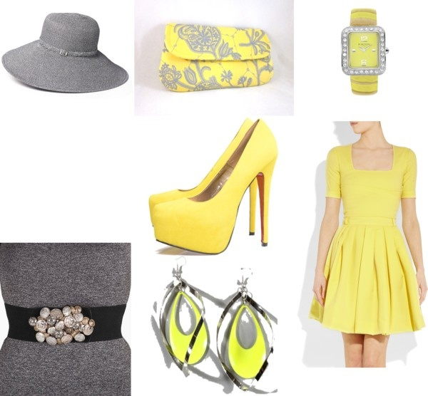 sunshine yellow, created by sarahutton on Polyvore