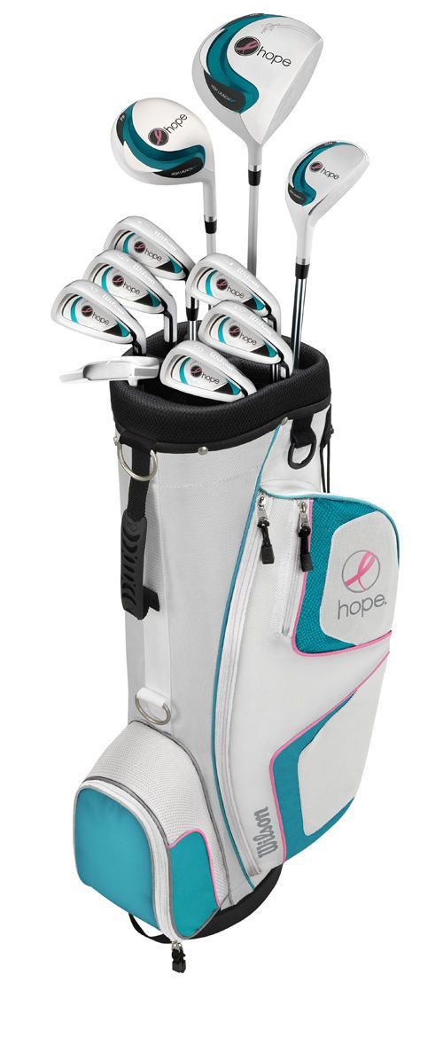 WILSON HOPE Women's Right Handed Complete Golf Club Set for $140 http://sylsdeals.com/wilson-hope-womens-right-handed-complete-golf-club-set-for-140/