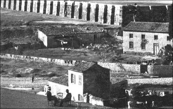 Ναός Ολυμπίου Διός και σπίτια το 1870