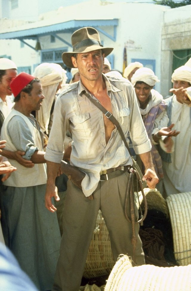 Speaking of hot older men....who doesn't love Indiana Jones? Harrison Ford is the essential man.