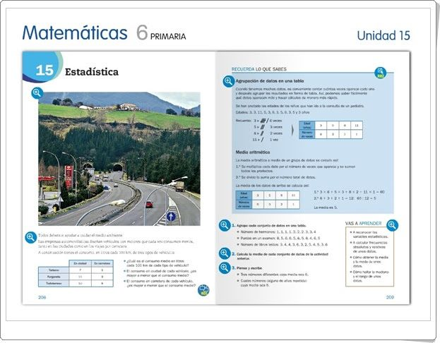 """Unidad 15 de Matemáticas de 6º de Primaria: """"Estadística"""""""