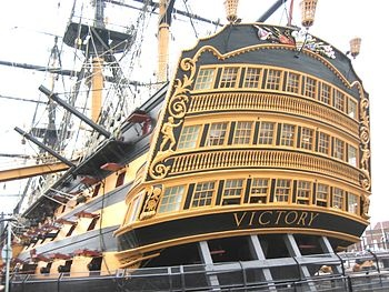 The HMS Victory in Portsmouth, England