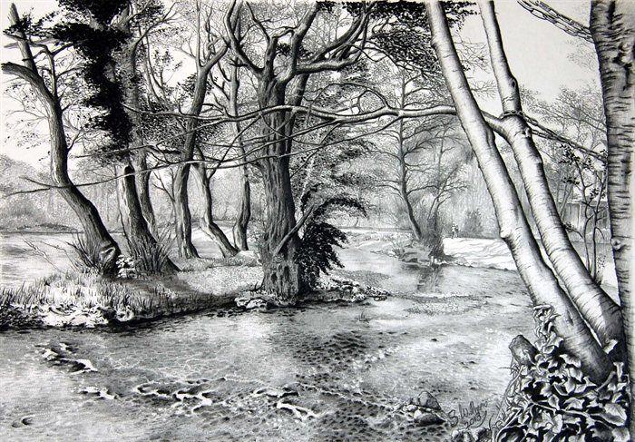 landscape charcoal sketches - photo #25