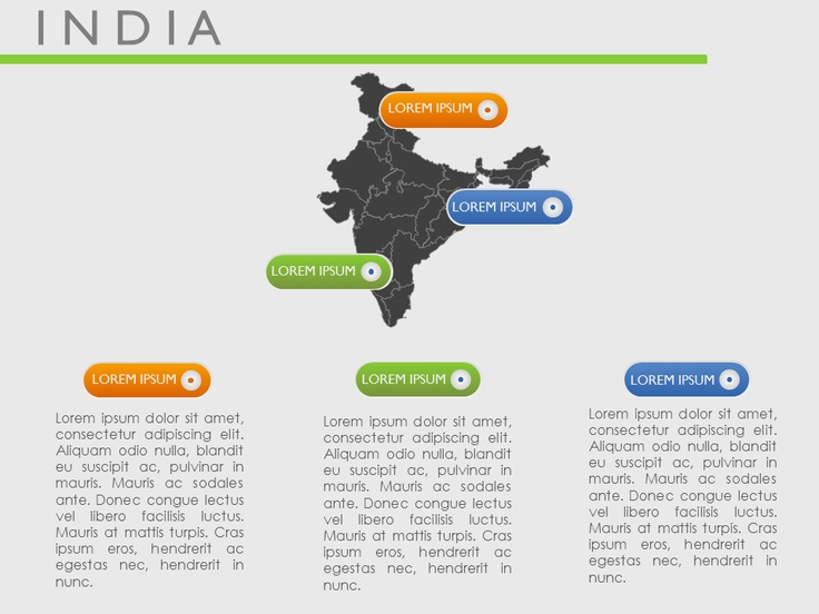 Download Editable Microsoft Power Point presentation India Map vector slides at moreslides.com