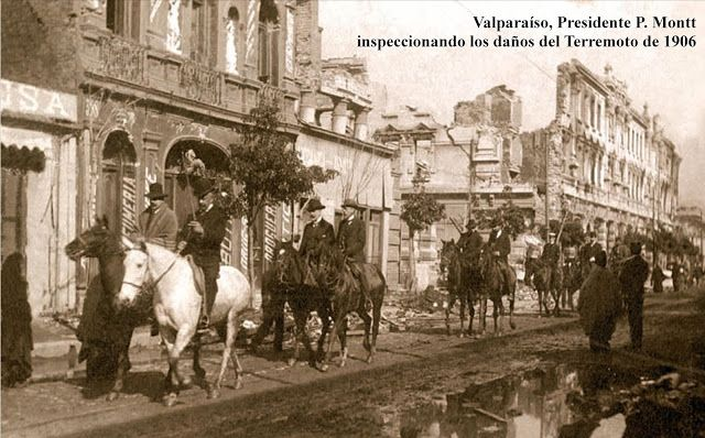 Imágenes de Chile del 1900: Valparaíso, terremoto 1906