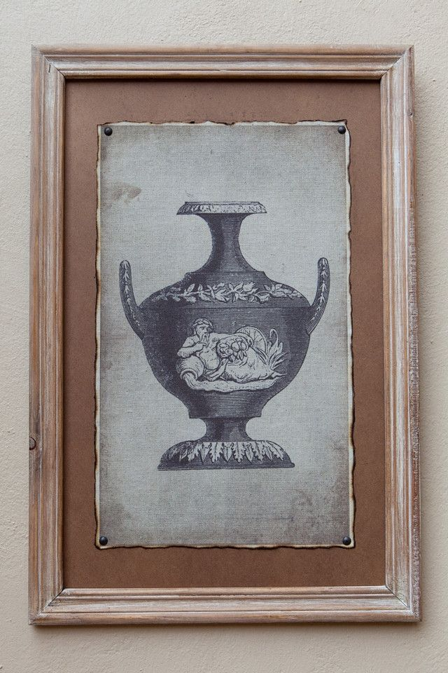 Natural Framed Print Vase II