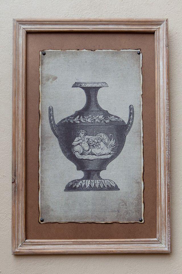 Natural Framed Print Vase II