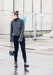 Alexandra H - Zara Turtleneck, Only Black Jeans, Chanel Classic Bag (Medium), Alexander Wang Kori Ankle Boots - The Zara turtleneck