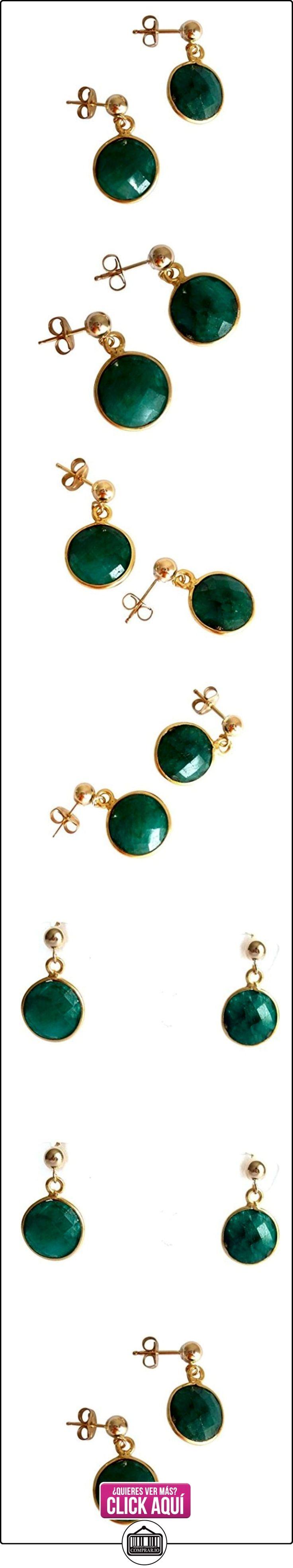 Gemshine - Pendientes de oro de 14kt y esmeralda natural, color de la gema verde  ✿ Joyas para mujer - Las mejores ofertas ✿ ▬► Ver oferta: https://comprar.io/goto/B00GLS1OFU