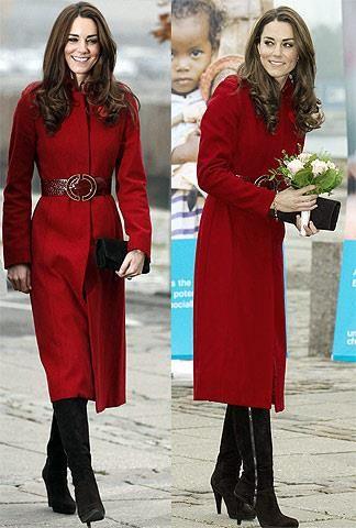 Кейт миддлтон красное пальто