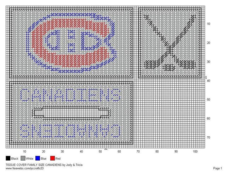 FAMILY SIZE TISSUE COVER - CANADIENS
