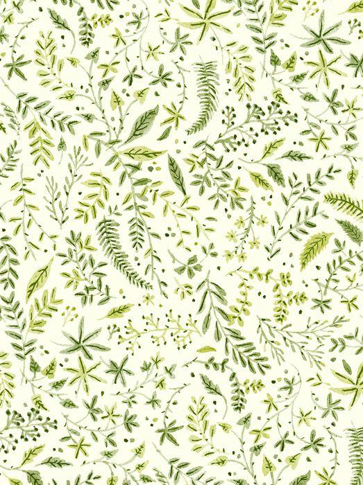 Foliage Pattern Vikki Chu Green WallpaperLeaves