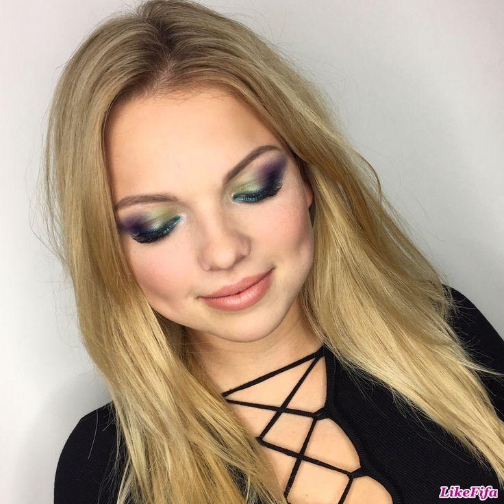 #необычный_макияж_глаз, #тени_нескольких_цветов, #вечерний_макияж, #броский_макияж_на_вечер, #макияж_likefifa, #макияж_от_мастера_Москвы, #насыщенный_мейкап