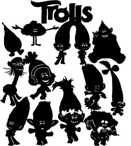 Die Cut Out Silhouette - Trolls, topper card making, scrapbook, Fairy jar, #TrulyHappyDesigns