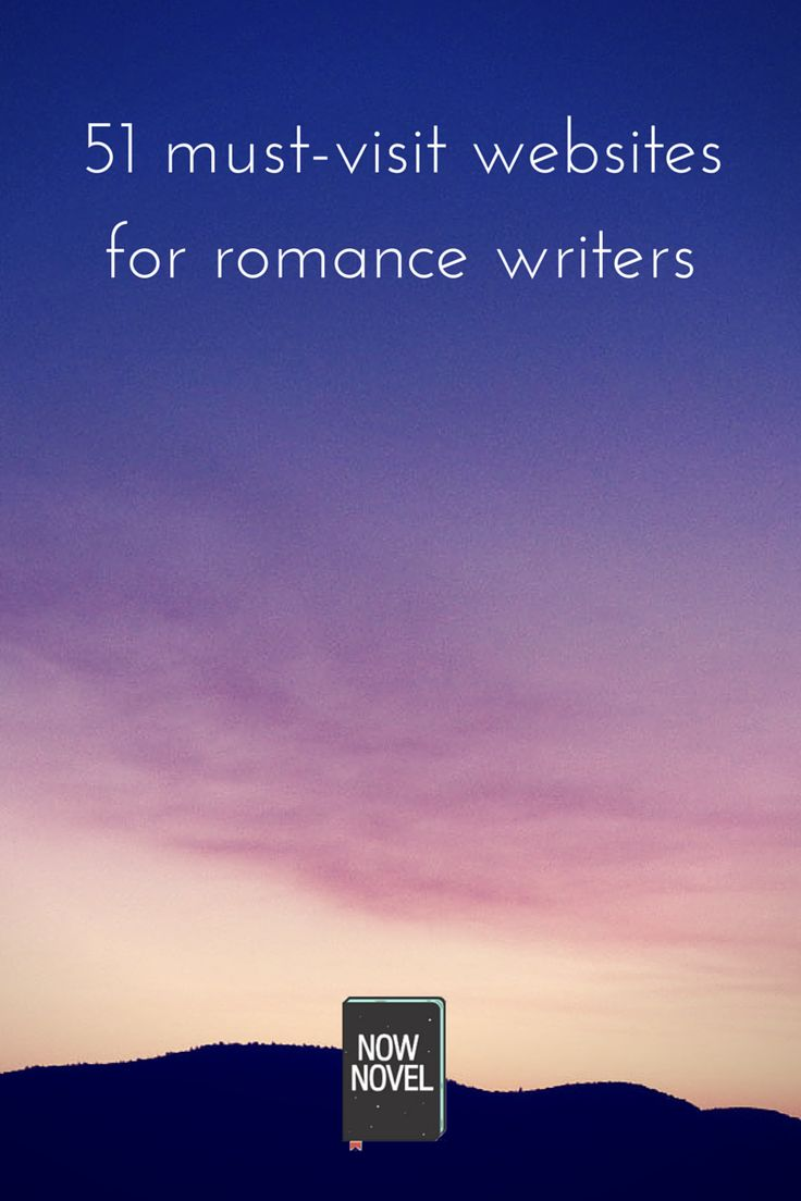 must-visit websites for romance writers - sunset and now novel logo