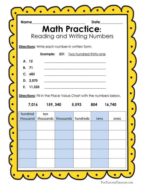 writing numbers in standard form 3rd grade