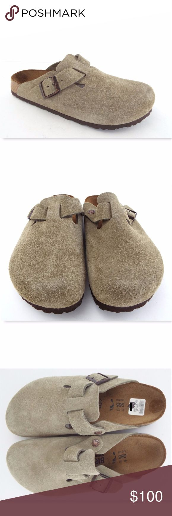 New BIRKENSTOCK BIRKO Suede Leather Mule Sandal 41 BIRKENSTOCK Birko Premium 100% Authentic! Taupe Green Suede Mules  Size 41 or Women's 10 Medium or Men's 8 New without box. All actual photos of the item. Birkenstock Shoes Sandals & Flip-Flops