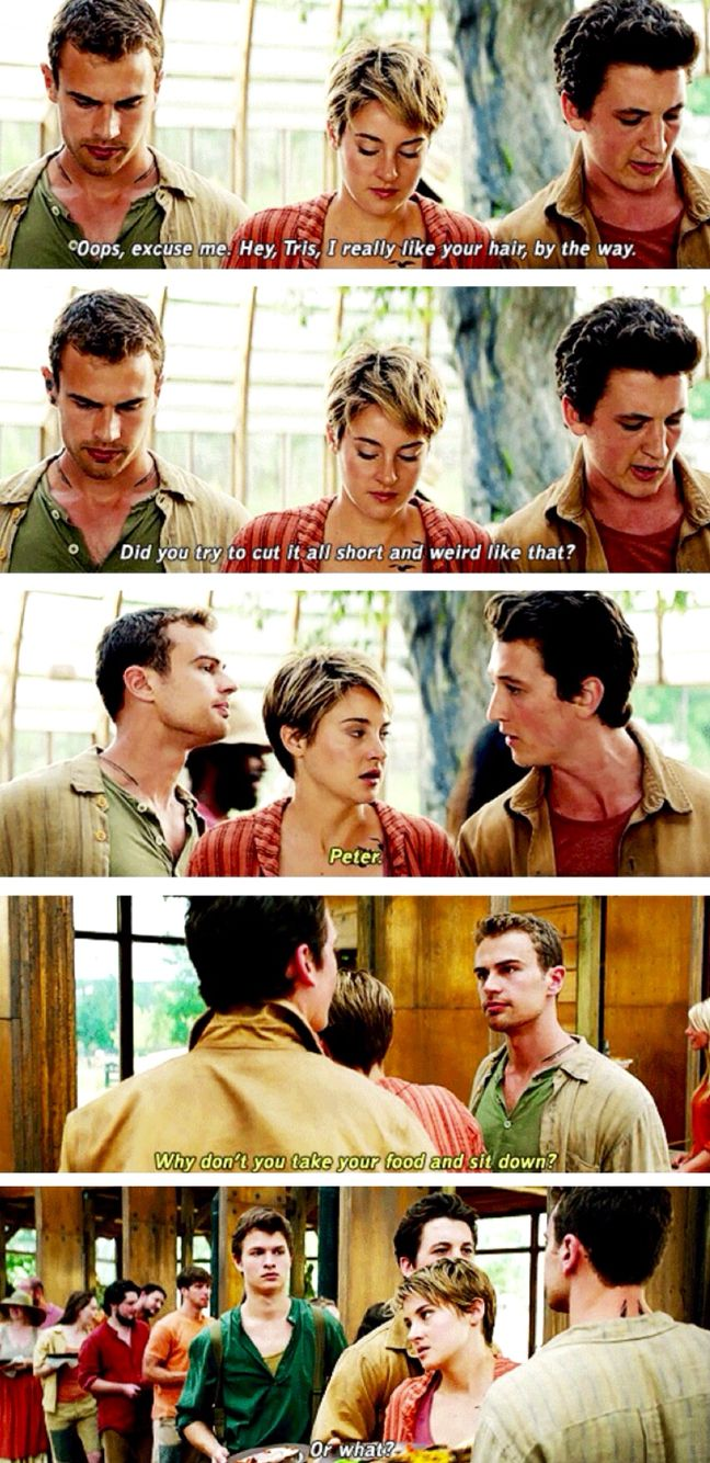 Tris' face at the end lol. ~Divergent~ ~Insurgent~ ~Allegiant~