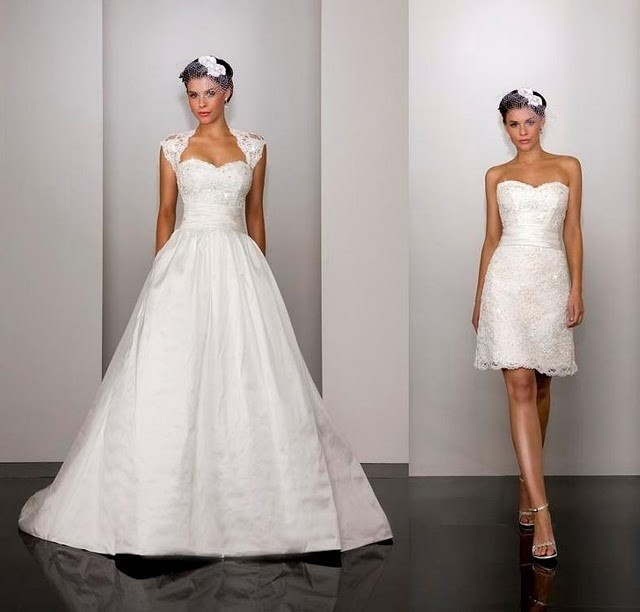 New Martina Liana 260 Couture Convertible Bridal Gown Lace