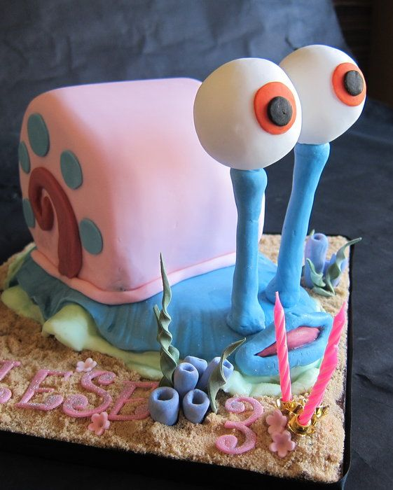 Garry Snail Cake---hey family--this is the cake I want for my next birthday--hint!hint!