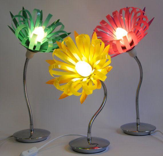Zade  Plastic Bottle Bendy Lamp by SarahTurnerEcoDesign on Etsy, £69.00