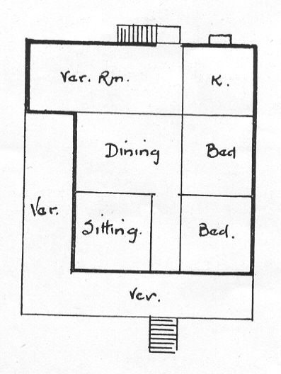 Description Floor Plan For Workers Bungalow With L Shaped