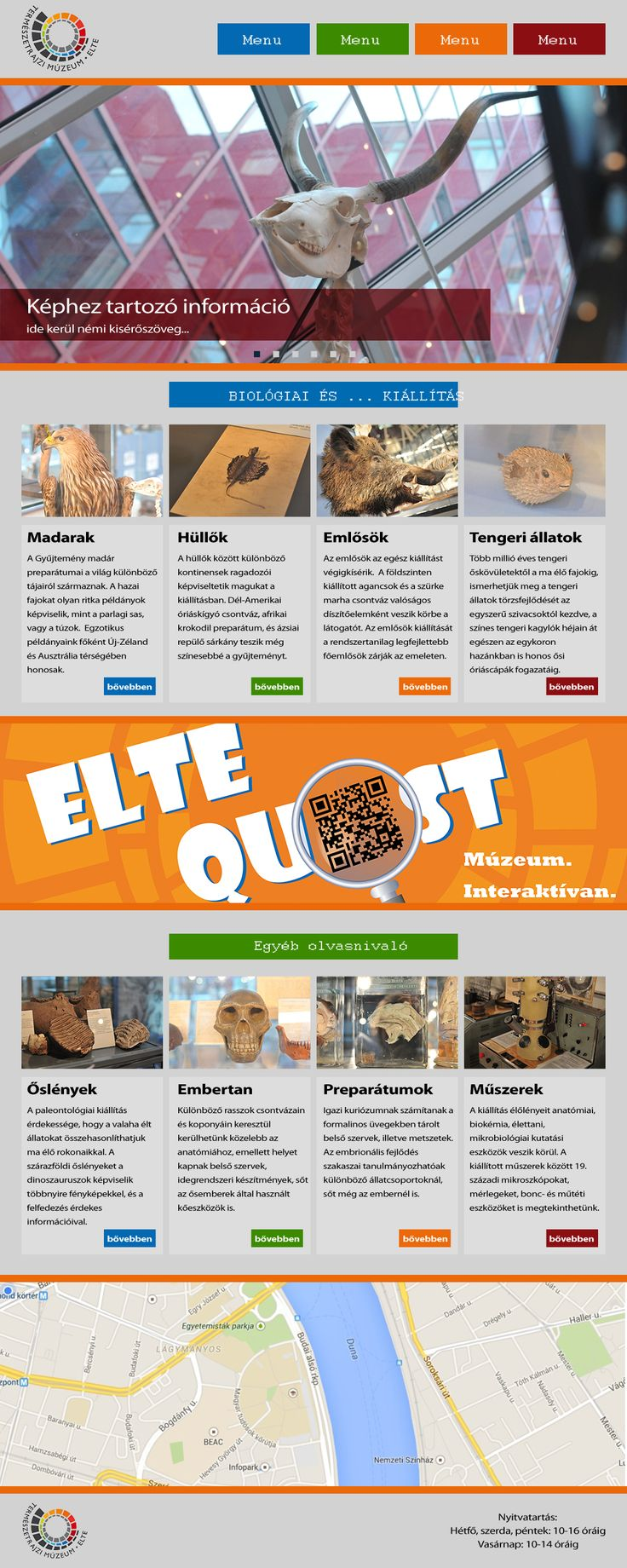 Gráf Mihály webdesigner tanfolyam modul elvégzését követő tervezési gyakorlat, amelyet az ELTE és a Top School közös tréningjén készített.