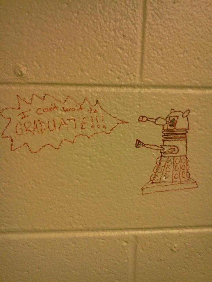 Graffiti in my university bathroom dalek graffiti