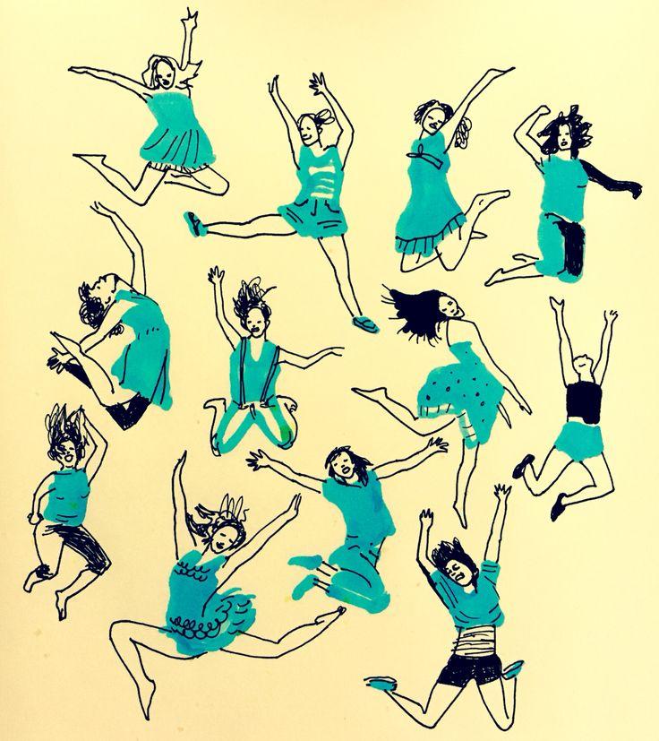 Balance by Marie Åhfeldt, Mås Illustra. www.masillustra.se #illustration #drawing #woman  #turquoise #masillustra