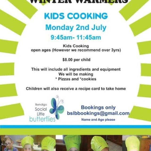 Bendigo Social Little Butterflies Kids Cooking Workshop!