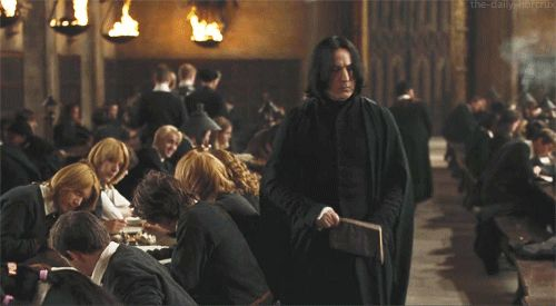 How have I never noticed that Draco is not only sitting at the Gryffindor table, but he is checking Hermione out, and that only stops when Ron sees him? SHIP