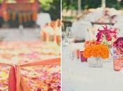 Mariage orange, rose fushia et vert anis - Paperblog
