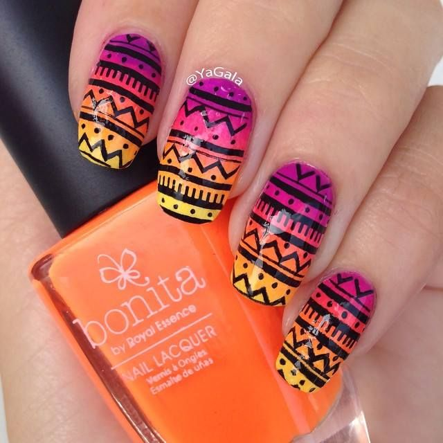 28 Best Tropical/Vacation Nails Images On Pinterest