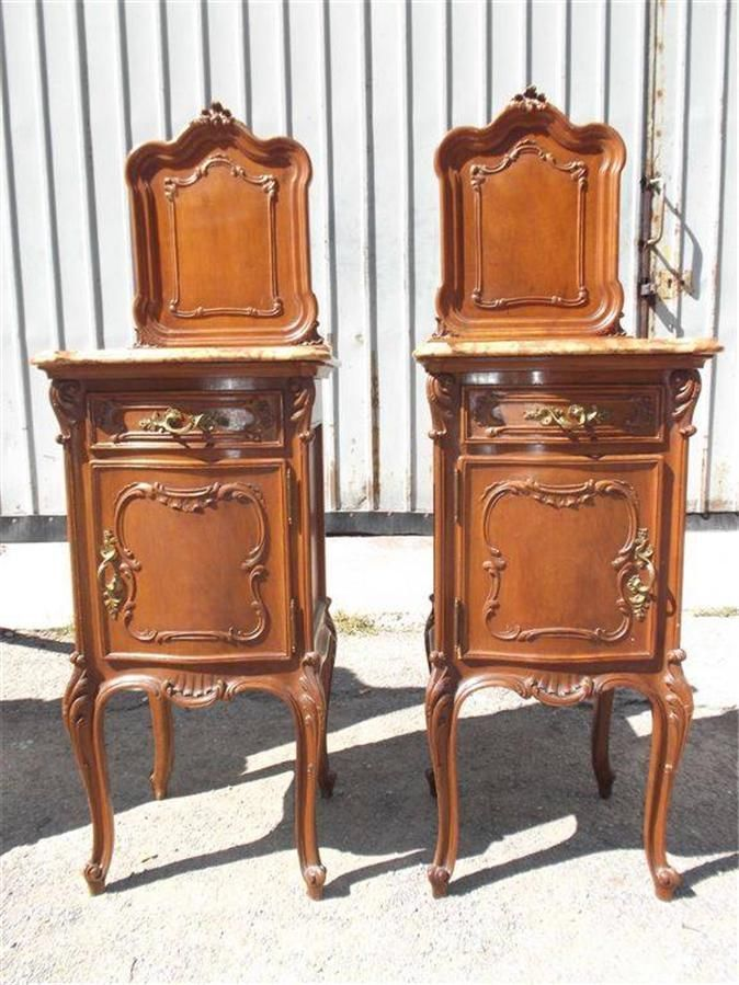 Marble Top Night Stands Italian Antiques Bedroom Set Night