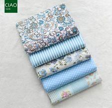 5 половина четверть квадратного ярда комплект 100% хлопчатобумажной ткани лоскутное одеяло синий цветочный пятна Пейсли