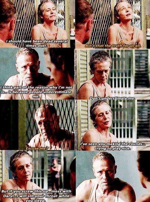 Merle and Carol - Deleted scene TWD season 3 - Why did they cut this scene?! I'm betting a lot of fans would've loved to see a light shine on this side of Carol that we've only felt was there.