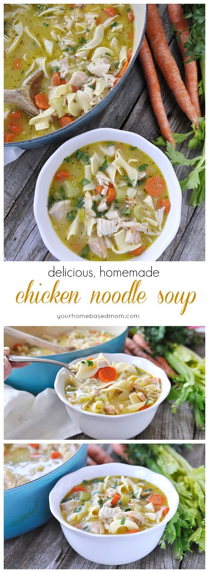 Chicken Noodle Soup is the best cure for a winter cold or dinner solution to a cold winter's night! Has the winter cold and flu season hit…