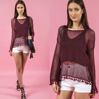 Style State mesh Pom Pom top available in store and online now. #shoplocal #onlineshopping #trickstar #fashion