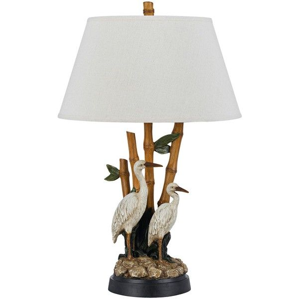 Cal Lighting Barnstable Stork Tropical Table Lamp ($233) ❤ liked on Polyvore featuring home, lighting, table lamps, tropical lighting, tropical lamps, cal lighting, tropical table lamps and cal lighting table lamps