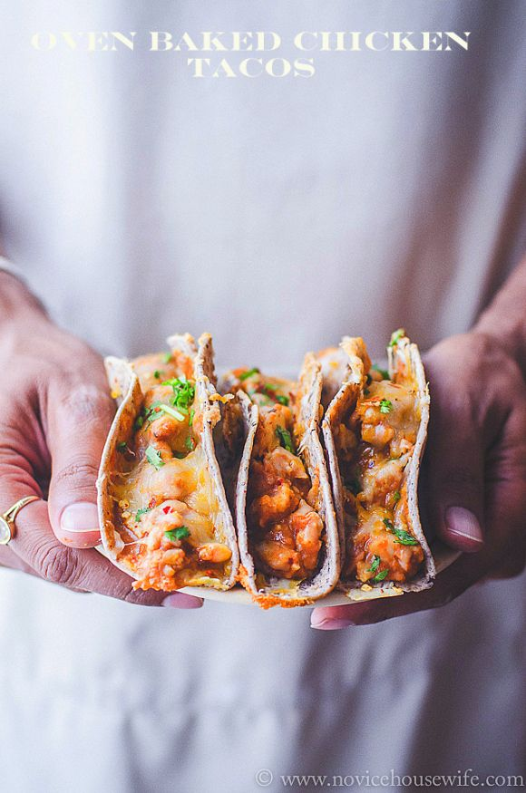 Oven baked chicken tacos The Novice Housewife