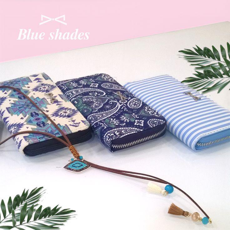 Elegant blue shades and boho prints.  #essentials #women #accessories #elegant #greece #achilleas_accessories