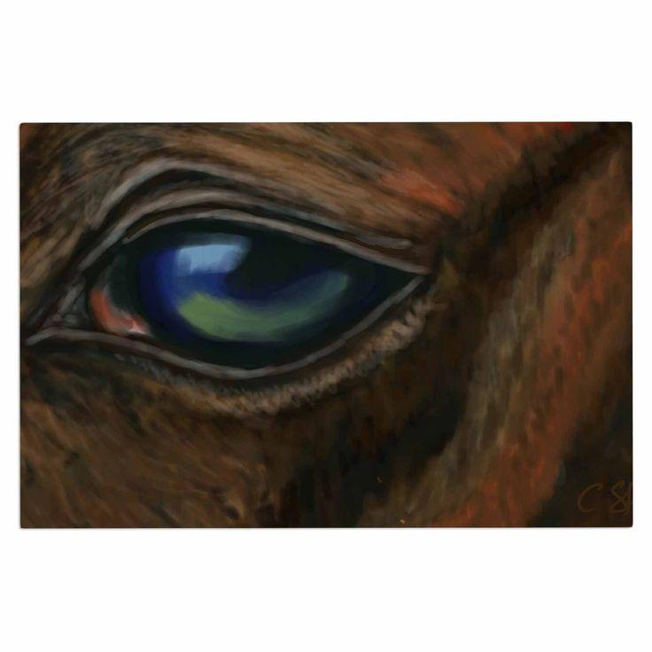 "Cyndi Steen ""Arabian Eye"" Brown Animals Decorative Door Mat"