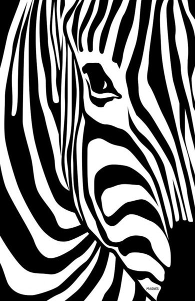 Zebra Art Print by takeiteasy - Society6