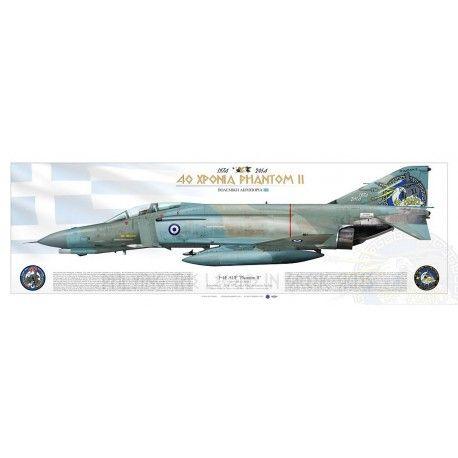 HELLENIC AIR FORCE . ΠΟΛΕΜΙΚΉ ΑΕΡΟΠΟΡΊΑ September 12th, 2014. 117 Combat Wing, Andravida Air Base Original drawing Ugo Crisponi (aircraft scheme) - Karel Ankoné (anniversary badge)