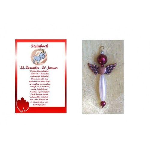 Geschenkset: Perlenengel /Schutzengel + Sternzeichenkarte Stienbock http://www.spandooly.de/Personalisierte-Welt-100854.ht