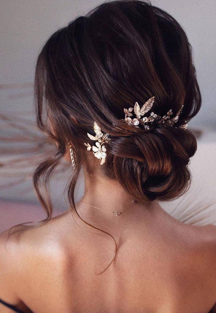 98 bruiloftskapsels voor bruiden: bruin haar; opge…